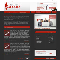 a concept business website layout