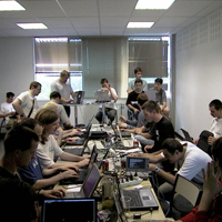A room full of geeks